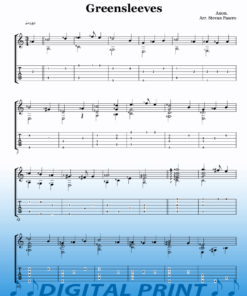 Greensleeves sheet music by Stevan Pasero