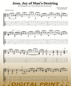 Jesu Joy of Man's Desiring sheet music arranged by Stevan Pasero