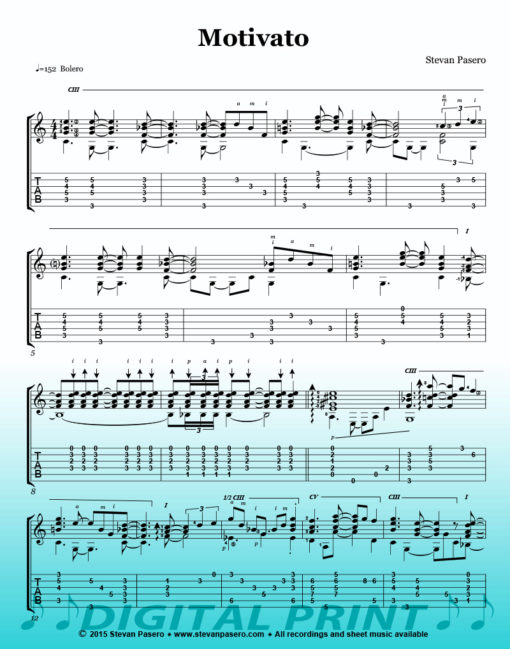 Motivato sheet music by Stevan Pasero