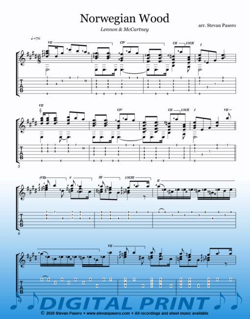 Norwegian Wood sheet music by Stevan Pasero