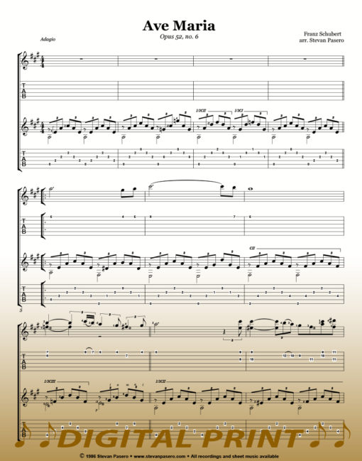Ave Maria sheet music_ duet_by Stevan Pasero