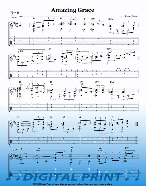 Amazing Grace Sheet Music arranged by Stevan Pasero