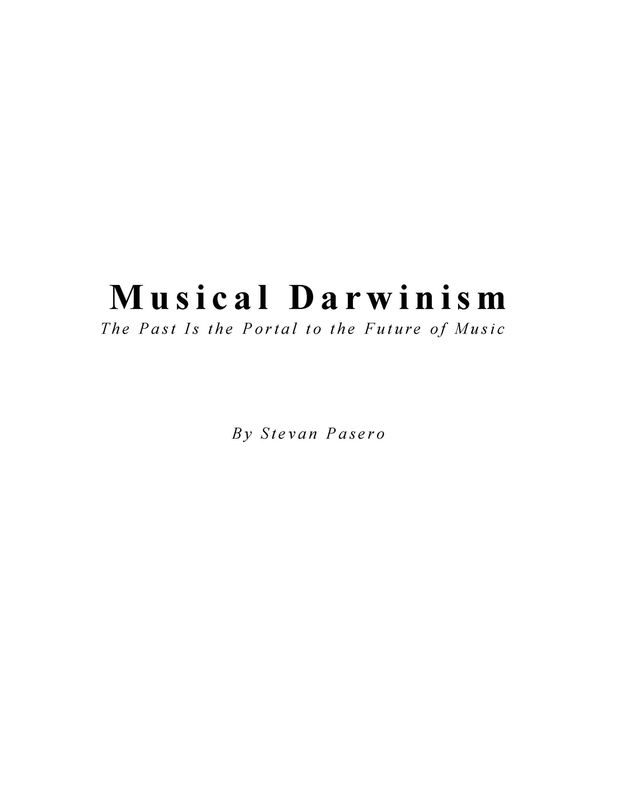 Musical Darwinism by Stevan Pasero